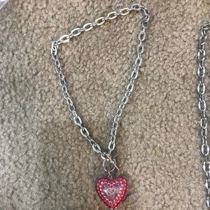 Tarina Tarantino small bubble heart necklace